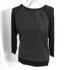 Calvin Klein 3/4 black sleeve top.